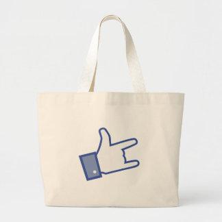 Facebook tiene gusto de usted de oscilar el icono bolsas