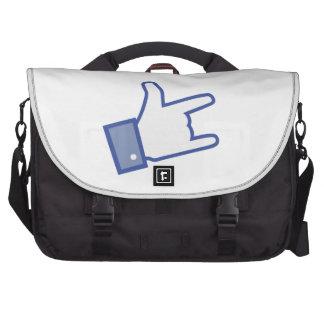 Facebook tiene gusto de usted de oscilar el icono bolsa para ordenador