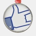 Facebook tiene gusto de usted de oscilar el icono ornamento de navidad