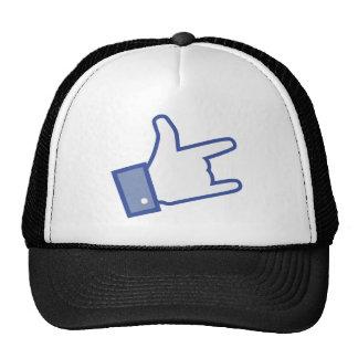 Facebook tiene gusto de usted de oscilar el icono gorros