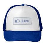 Facebook tiene gusto del botón gorros bordados