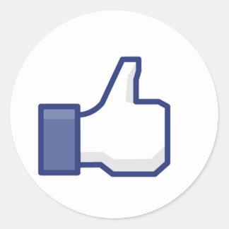 Facebook tiene gusto del botón pegatina redonda