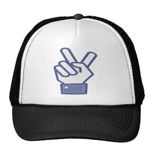 Facebook tiene gusto del signo de la paz gorra