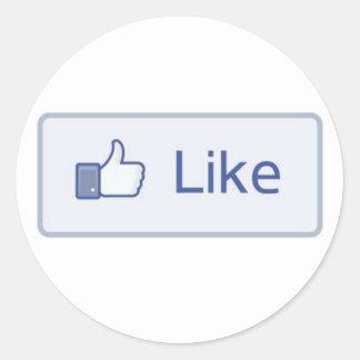 Facebook tiene gusto etiquetas redondas