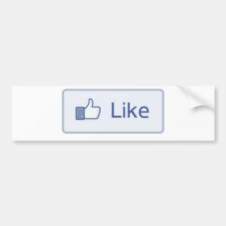 Facebook tiene gusto pegatina de parachoque