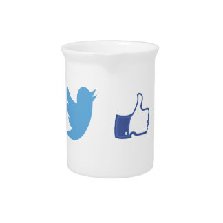 Facebook Twitter Drink Pitcher