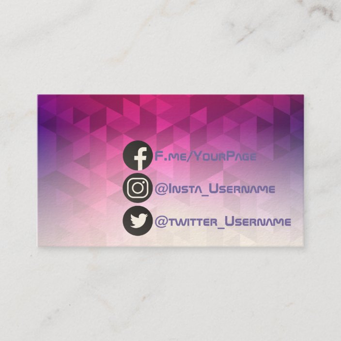 Social Geometric Modern Business Card