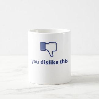 Facebook - usted tiene aversión esto taza de café