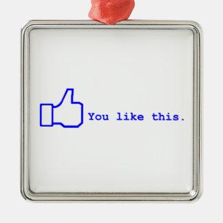 Facebook - usted tiene gusto de esto adorno de navidad