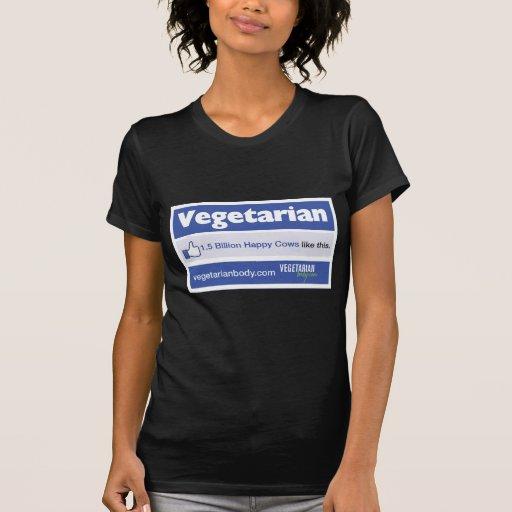 Facebook vegetariano camiseta