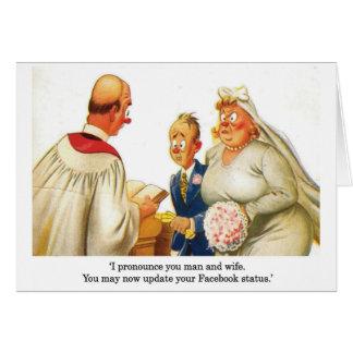 Facebook wedding card
