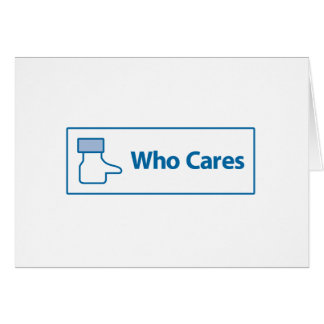 Facebook Who Cares Greeting Card