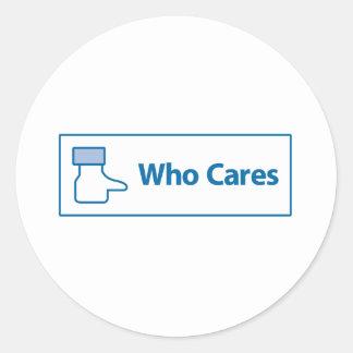 Facebook Who Cares Classic Round Sticker