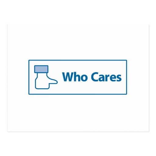 Facebook Who Cares Post Card