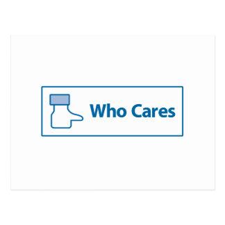 Facebook Who Cares Postcard