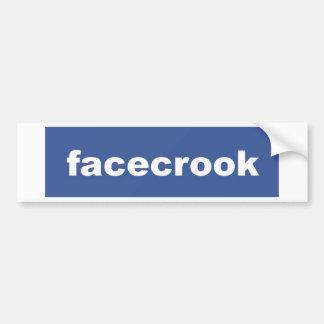 facecrook car bumper sticker