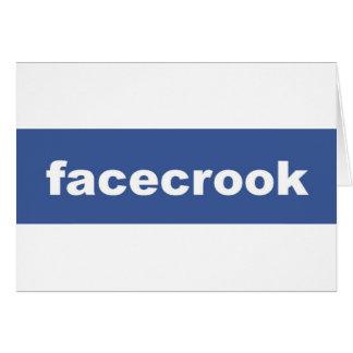 facecrook greeting card