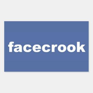 facecrook rectangular sticker