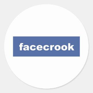 facecrook classic round sticker