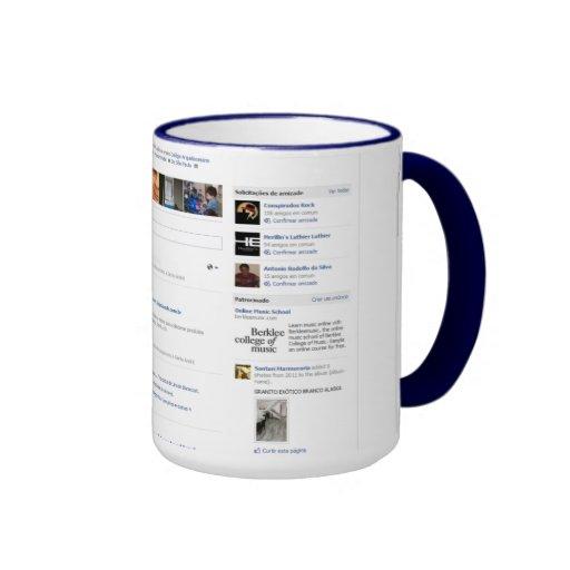 FaceCup Ringer Coffee Mug