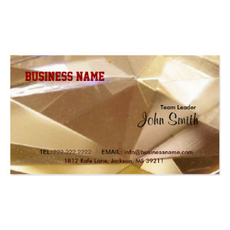 Faced Crystal Business Card