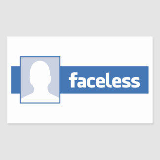Faceless - Anonymous Profile Pic (Male) Stickers