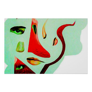 Faceless contemporary wall art. poster