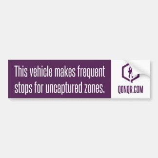 Faceless Frequent Stops Bumper Sticker