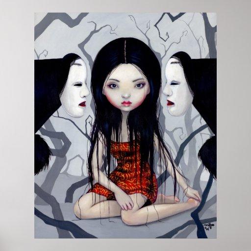 Faceless Ghosts gothic japanese horror Art Print