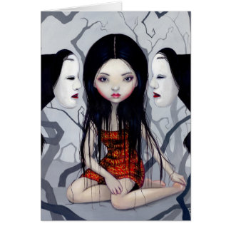 """""""Faceless Ghosts"""" Greeting Card"""