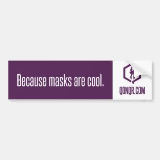 Faceless Masks Bumper Sticker