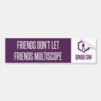 Faceless Multiscope Bumper Sticker