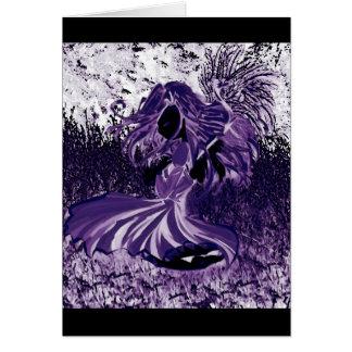 Faceless Purple Fairy Card