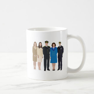 Faceless Royal Family illustration Coffee Mug