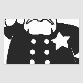 faceless servant of the law rectangular sticker
