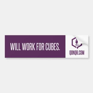Faceless Work for Cubes Bumper Sticker