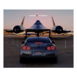 """""""Faceoff"""" Nissan GT-R Taking on a SR-71 Posters"""
