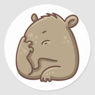 Facepalm! Classic Round Sticker