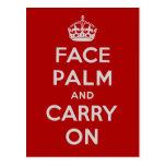 Facepalm y Carry On - es uno de ESOS días Tarjetas Postales