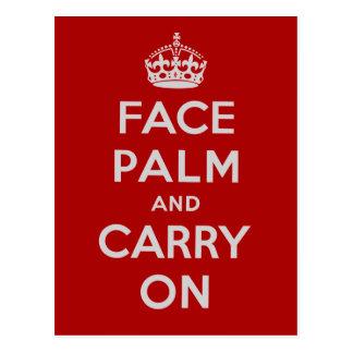 Facepalm y Carry On - es uno de ESOS días Tarjeta Postal