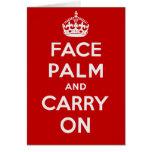 Facepalm y Carry On - es uno de ESOS días Tarjeton