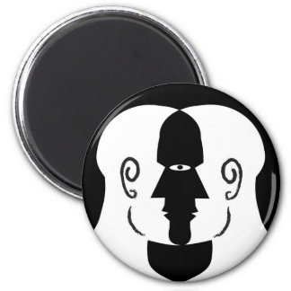 faces 2 inch round magnet