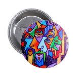 Faces Abstract Button