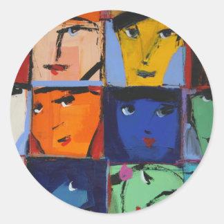 Faces Classic Round Sticker