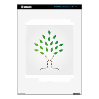 Faces forming a tree decal for iPad 3