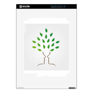 Faces forming a tree iPad 2 decals