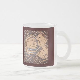 Faces Frosted Glass Coffee Mug