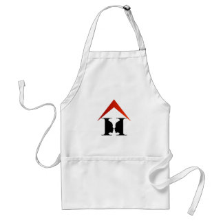 Faces in a house to create a vase adult apron