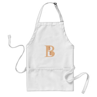 Faces in alphabet B for beauty Adult Apron