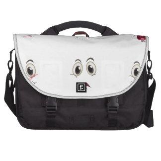 faces laptop commuter bag